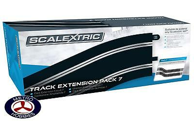 Scalextric Track Extension Pack 7 4 x Straights & 4 x R4 Curves SCA-C8556 Brand