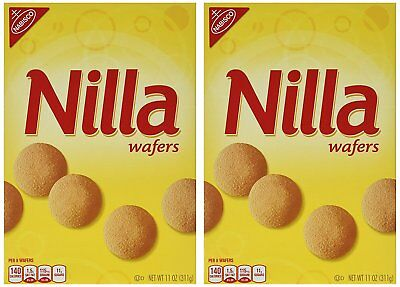 912559 2 x 311g VALUE BOXES OF NABISCO'S NILLA WAFERS VANILLA FLAVORED COOKIES!