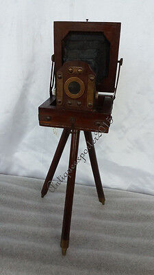 Vintage Mini wooden old time retro film camera replica Home Decorative Gift