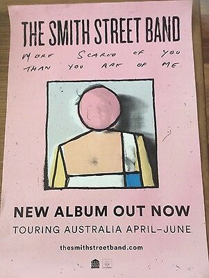 The Smith Street Band More Scared If You Then You Are Of Me Album Release Poster