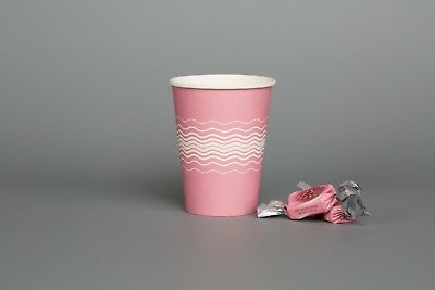 100 Disposable Paper Cups PINK Party Tableware Catering Supplies Kids DIY