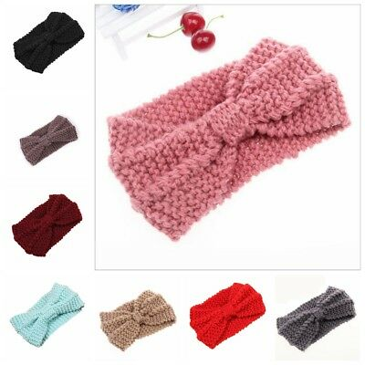 Women Turban Crochet Twist Knitted Headwrap Headband New Winter Warmer Hair Band