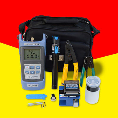 Fiber Optic FTTH Tool Kit With FC-6S Fiber Cleaver and Swich Optical Power Meter
