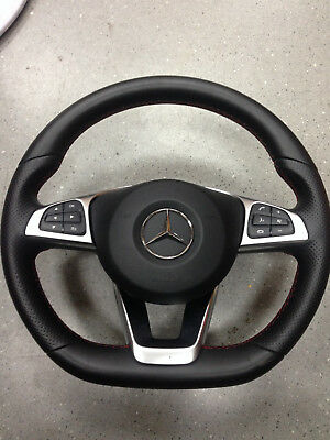 Mercedes Benz Multifunction Steering wheel airbag Red Stiching AMG W204 W212 MB