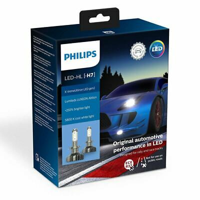 PHILIPS H7 Xtreme Ultinon gen2 LED 12V 25W Car Headlights Bulb Twin 11972XUWX2