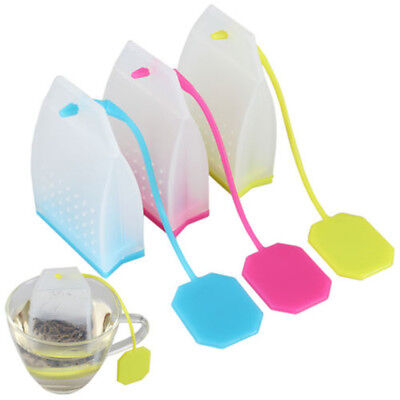 Bag Shape Silicone Tea Leaf Strainer Filter Herbal Spice Infuser Diffuser