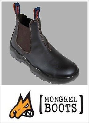 Mongrel Men's safety work boots(240090)- Oil kip Elastic sided boot