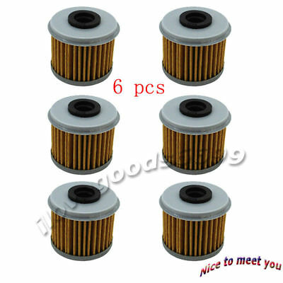 6x Oil Filter For HUSQVARNA TC250 TE310R TXC250R Honda CRF150RB CRF250R CRF450X