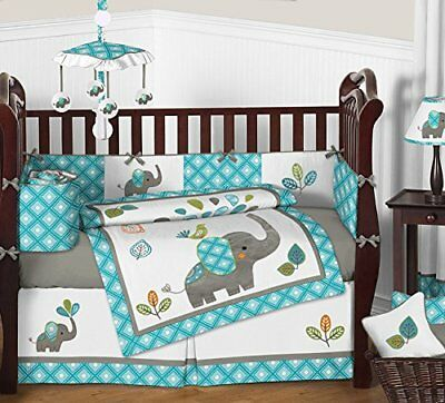 Fitted Crib Sheet Mod Elephant Baby Toddler Bedding Set Collection Diamond Print