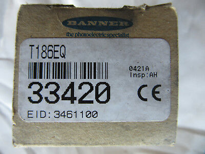 Banner 33420 Mini Beam Sensor T186EQ NEW!!! in Factory Box Free Shipping