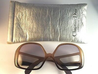 Vintage Christian Dior Two Tone Cut Out Temples Green Light Lenses 80's Austria
