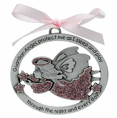 Pink Angel Crib Medal (CM16P) Pewter NEW 2.5 Inches