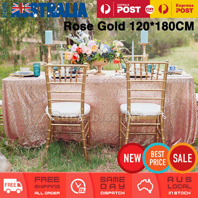 120*180cm Glitter Sequin Tablecloth Table Cloth Wedding Party Decor Rectangular
