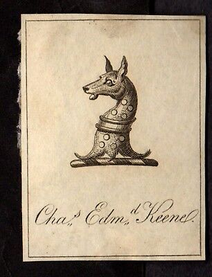 Book Plate / Ex Libris ~ CHARLES EDMUND (Poss. EDMOND) KEENE ~ Early SMALL