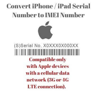 Iphone / Ipad Convert Apple Device Serial Number To Imei