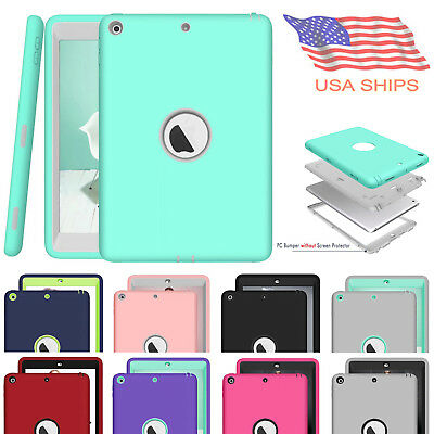"For iPad 9.7"" 5th 6th 2017 2018 Shockproof Hard Rubber Hybrid Guard Case Cover"