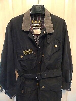 Barbour- A7 International Suit  Waxed Cotton Jacket -Iconic & Rare- Made@ Uk-42