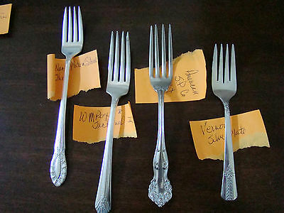 Silver And Silver Plated - 3 Dinner Forks & 1 Dessert Fork - Mixed Lot
