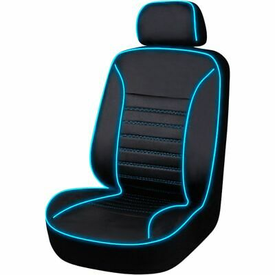 Light Up To Music Seat Cover - Black/Blue, Size 30, Single, Airbag Compatible