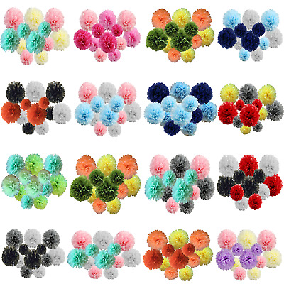 9/12 Pack Mixed Tissue Paper Pompom Pom Pom Hanging Garland Wedding Party Decor