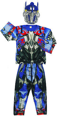 New Size 2-12 Kids Costume Transformers Optimus Prime Boy Dress Up Party Gift