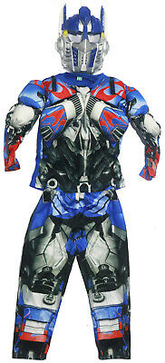 New Size 2-7 Kids Costume Muscle Transformers Optimus Prime Boys Party Gift Toys