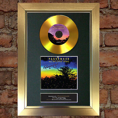 GOLD DISC PASSENGER Signed CD Mounted Repro Autograph Print A4 100