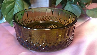 "Depression glass green 6"" X 2"" bowl, 1930s style"