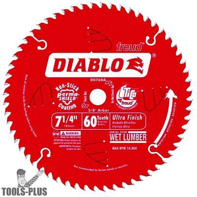 "Diablo D0760A 7-1/4"" x 60T Ultra Fine Finishing Circ Saw Blade (Bulk) New"