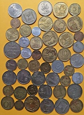 WORLD COINS ME6: Big lot of mixed coins ISRAEL