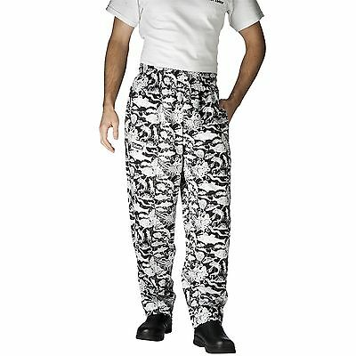 Chefwear 3500-25 Ultimate Chef Pant Aqua Sea Life all sizes XS-2XL NEW!