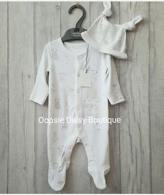 Babys Lovely Dream Big Little One Unisex Romper with Matching Hat ☆ Mothercare ☆