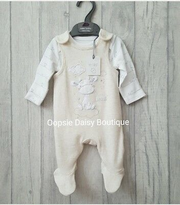 Babys Lovely Little Giraffe Dungarees & Matching Bodysuit 2 Piece ☆Mothercare☆
