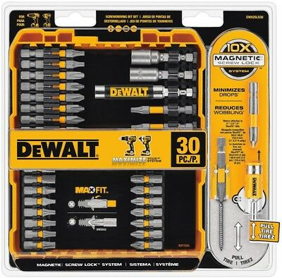 30-Piece Screwdriver Drill Bit Set Case Hex Magnetic Slotted Impact Screw Driver