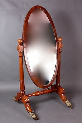 William IVth Mahogany Cheval Mirror
