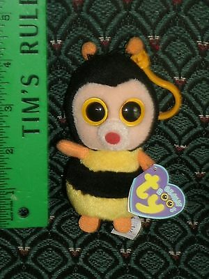 """Ty Beanie Boo 3"""" clip STING (Bumble Bee) * FELT NOSE * MWMT * RARE * Retired"""
