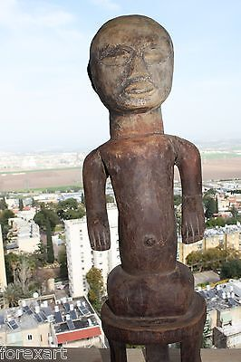 "Antique Lobi Burkina Faso Figurine Hand Carved Hard Wood Makonde Statue 24"" RARE"