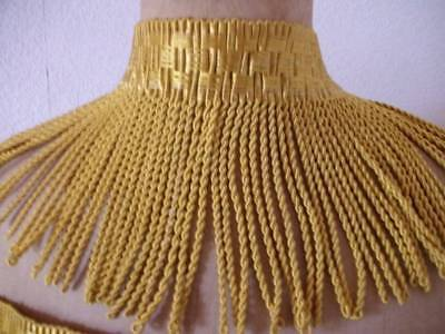 Luxurious  French Vintage Gold Silk Fringe 3m Unused
