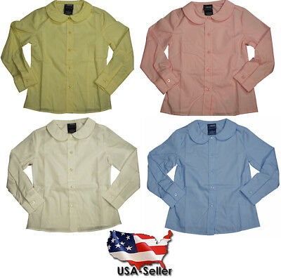 French Toast Uniform Girls 4-20 Long Sleeve Feminine Fit Peter Pan Blouse