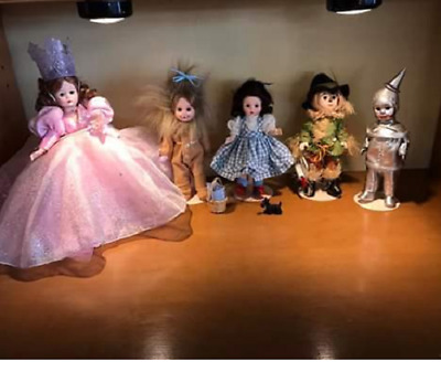 """Lot of Five Madame Alexander 8""""  Wizard of Oz Dolls - Retired"""