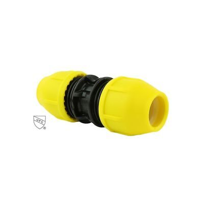 HOME-FLEX 3/4 in. Underground Yellow Poly Gas Pipe Coupler