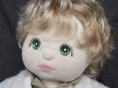 MY CHILD BOY DOLL two tone blonde with green eyes.