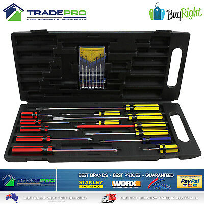 Screwdriver Set 19pc Buy Right with Carry Case Magnetic Phillips Flat Precision
