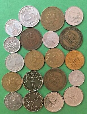 WORLD COINS EE6: Lot of coins CZECHOSLOVAKIA vintage to modern