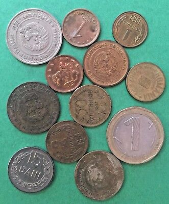 WORLD COINS EE7: Mixed coin lot ROMANIA & BULGARIA