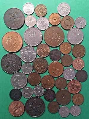 WORLD COINS WE13: Big lot of vintage coins SWEDEN