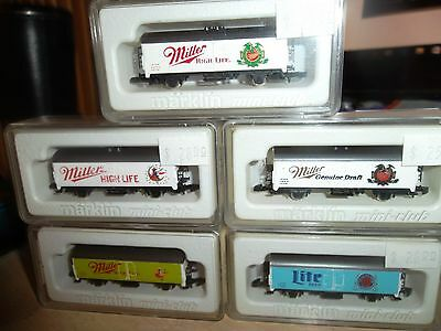 Z Scale Marklin Miller Beer Complete Set Of All 5 Outstanding