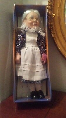 ASHLEY BELLE Ugly Scary Bisque Grandma Doll in Her Original Box 19""