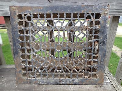 Antique Heat Register Floor Grate Vent with Frame & Louvers
