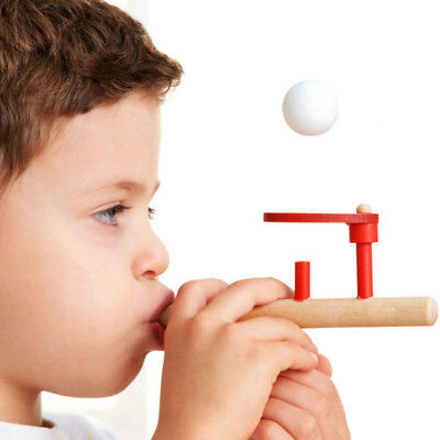 Children Fun Toys Blowing Balance Floating Wooden Flute Ball Educational Toy